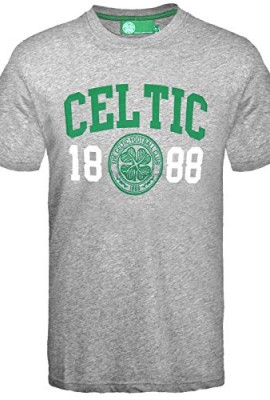 Celtic-FC-Official-Football-Gift-Mens-Graphic-T-Shirt-Grey-RRP-1199-0