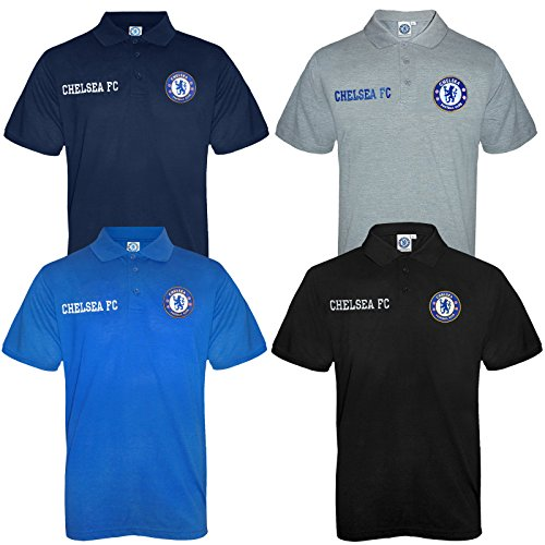 new arrival b7628 85fe0 Chelsea FC Official Football Gift Mens Crest Polo Shirt