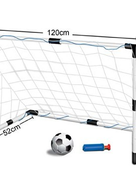 Childrens-Kids-Football-Goal-Set-1-Goals-with-Nets-and-Ball-LARGE-SIZE-12m-wide-x-08m-tall-0