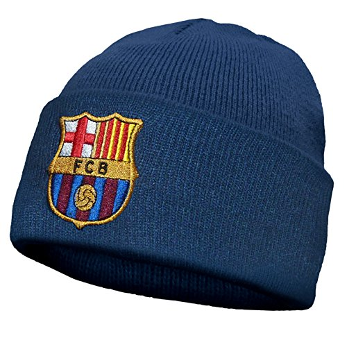 ac19d375ca7 FC Barcelona Official Football Gift Knitted Bronx Beanie Hat Crest ...