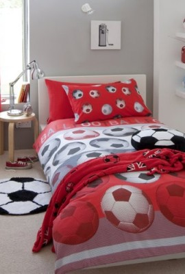 Football-Red-Single-Bed-Duvet-Quilt-Cover-0