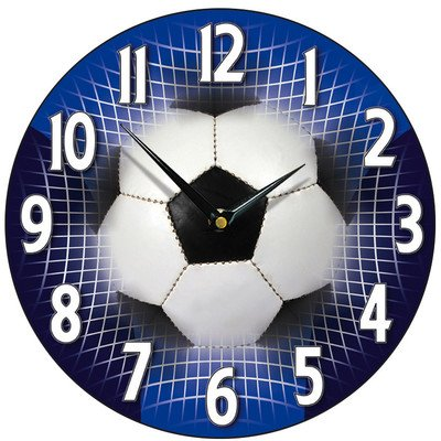 Football Wall Clock Finish Blue The Set Shop Football