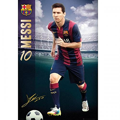 Official FC Barcelona Messi Poster