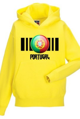 Kids-Portugal-Flag-Hooded-Sweatshirt-Printed-On-Russell-Jerzees-Schoolgear-Childrens-Top-14-Colours-0