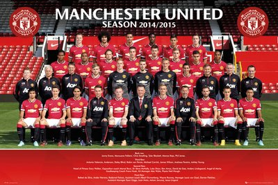 outlet store 1ae5b 759f1 Manchester United Team Photo 14/15 Maxi Poster 61×91.5cm