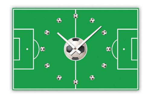 Football Design Wall Clock : Wall clock design football pitch cm square shape