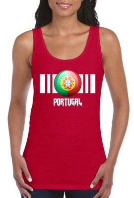 Womens-Portugal-Flag-Wide-Straps-Vest-Printed-On-Gildan-Ladies-SoftstyleTank-Top-6-Colours-0
